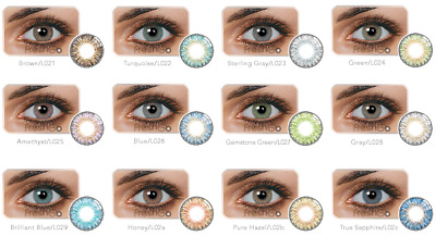 FreshGo Colour Daily Fashion Contact Lenses Cosmetic Makeup Eye Shadow Color