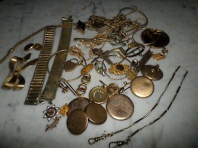 Vitnage Gold Filled Gold Plate Scrap not Scrap Recorvery Lot 249g NR