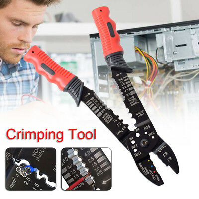 11'' Multi-function Crimping Pliers Crimping Cutting HS-051 0.25-4MM2 Stripper