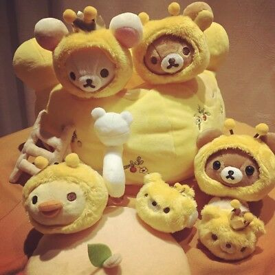 NEW San-x Rilakkuma Honey Bee Forest Special Plush Set Limited Store Exclusive