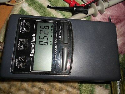 Working Radioshack 22-306 RF Frequency Counter 1HZ-1300MHZ, antenna not included