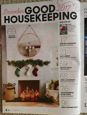 December 2017 Good Housekeeping Magazine Cookie Recipes 5 Minute Holiday Decor