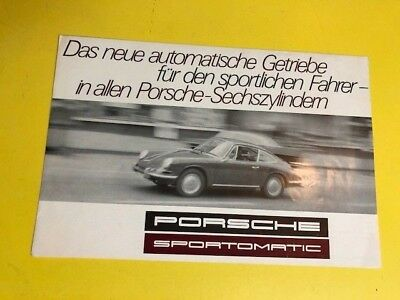 1968 Porsche 911S Sportomatic Showroom Advertising Brochure in German