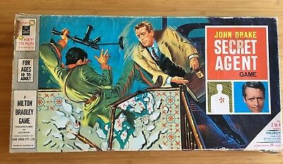 VINTAGE MILTON BRADLEY 1966 Original UNUSED John Drake Secret Agent Board Game