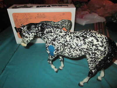 Breyer Vintage Club Isabelle glossy black dapple only 500 made with box NO COA