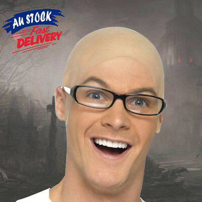 Rubber Bald Skinhead Latex Head Cover Wig Cap Costume Dress Up Party