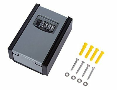 Key Storage Wall Mounted Lock Box Lencent Key Safe 4-Digit Combination with Code
