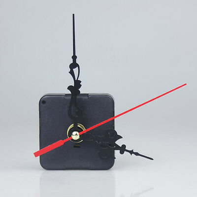 Quartz Clock Movement 3 Pointers Mechanism Repair DIY Tool Kit Red Hand Decor