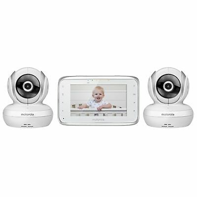 Motorola MBP38S-2 Digital Video Baby Monitor with 4.3-Inch Color LCD Screen a...