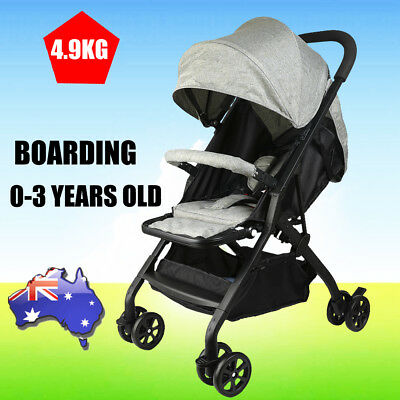 2018 Compact Lightweight Baby Stroller Pram Easy Fold Travel Carry on Plane Grey