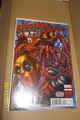 Marvel Comics Deadpool Vs Carnage #3 2nd Print VF/NM- Very Rare Sold Out