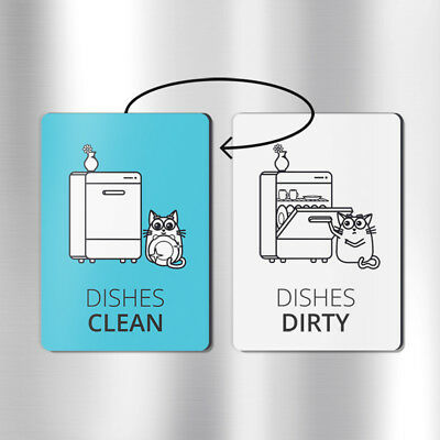 Double-sided clean dirty dishwasher magnet dishwasher magnet funny