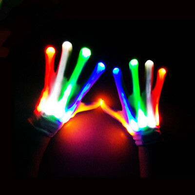 Bunte Leuchtende LED Flashing Handschuh Licht Finger Lighting Tanzen Requisiten