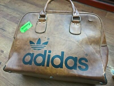 86c74b8565c9 Northern soul Vintage 1970 s Adidas Peter Black Holdall  Sports Bag. in  brown.