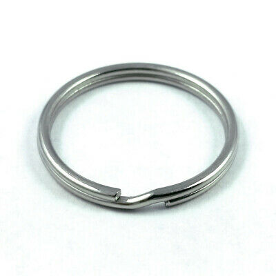 "10 pcs 25mm Stainless Steel Split Key Chain Rings 1"" inch"