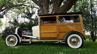 "Hotrod 1928 Ford Model A ""WOODY"" collector car hot rod custom"