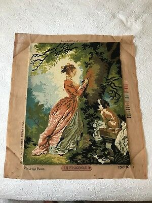 Vintage french Finished Royal paris le chiffre d'amour JH Fragonard tapestry