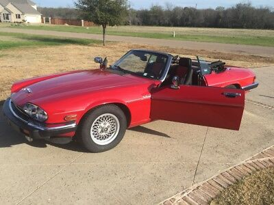 1989 Jaguar XJS Convertible Red, convertible, V12 restored 95 percent