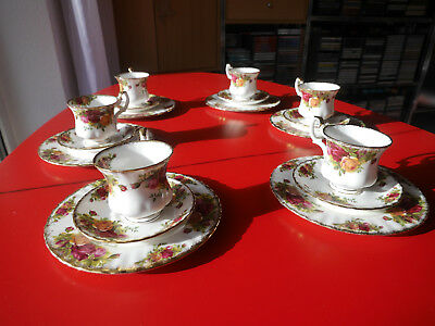 "Kaffeeservice ""Old Contry Roses"" 23 teilig Royal Albert Bone China England"