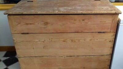 Antique Pine Saddle Storage Chest