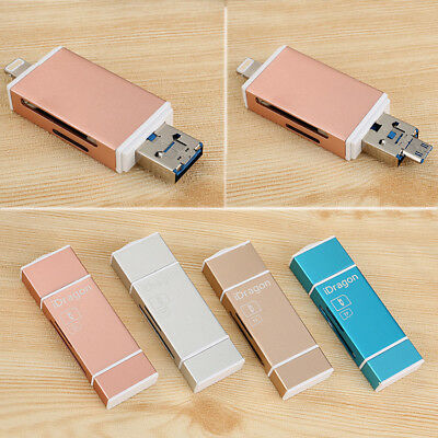 USB Flash Drive Card Reader For iPhone iPad 5S 6S 7 8 X Plus Android Samsung IOS