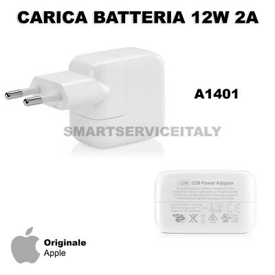 Carica Batteria 12W A1401 MD836 ORIGINALE per iPad 1 2 3 4 Air 1 2 MINI PRO XS