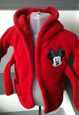 Baby Girls Dressing Gown Minnie Mouse 0-6 months Disney @George