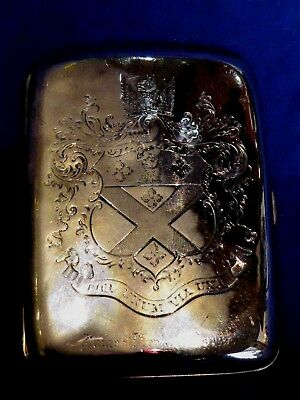 Rare 9ct Gold Cigar Case, William Neale,Chester, 1902 for Sir James Cory VC, DSO