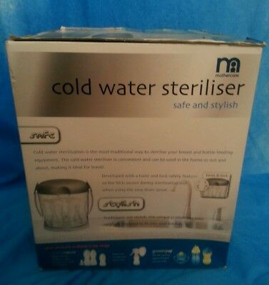 Cold water steriliser