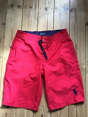 POLO RALPH LAUREN BOYS BOARD SHORTS AGE 14-16 Red