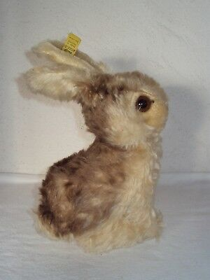 Steiff Osterhase Hase sitzend Knopf Fahne 3322 Made in Germany ca. 40 er Jahre