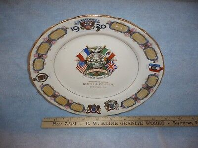 1920 victory calendar plate   smith and peiffer lebanon pa