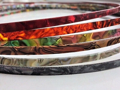 Guitar Binding Purfling Strip for Luthier - 1650mm Pearl Abalone Choose Colour