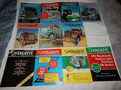 Vintage 1974 OVERDRIVE Magazine Lot of 11 Issues - American Trucker's Magazine