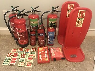 Fire Protection JOB LOT Extinguishers Blankets Signs Stands