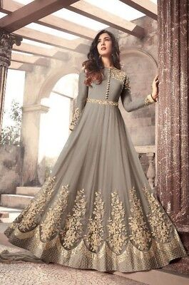 Anarkali Latest Indian Bollywood Wedding Party Wear Long Gown Embroidery Dresses