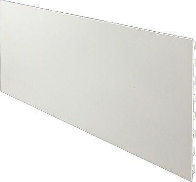gl-rückwand Cassette Back Wall White Aluminum 1250x100mm Insert Shelf Warehouse