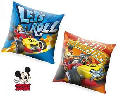 Kids Disney Mickey Mouse And The Roadster Racers Pillow Cushion 40cm X 40cm