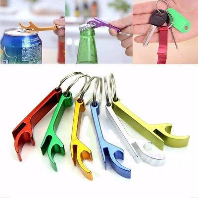 10 Pcs Bottle Opener Key Ring Chain Keyring Keychain Metal Beer Bar Tools Claw