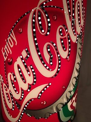 """Rotating Lighted Coke Coca Cola 12.5"""" Bottle Can Lamp"""