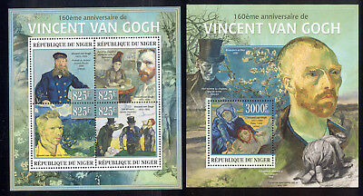 Niger - 2013 two MNH sheets of 4 11941219 Paintings by Vincent van Gogh Lot 50
