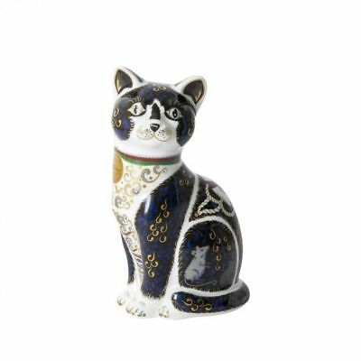New Royal Crown Derby 1st Quality Limited Edition War Time Cat Paperweight