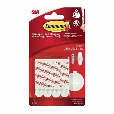 3M COMMAND 17021P | Medium Refill Strips | Removes Cleanly Holds Strongly 1kg