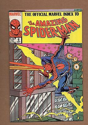 The Official Marvel Index to the Amazing Spider-Man #6 ( 1985, Marvel). VF+NM