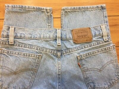 Boys Vintage Levis 550 Orange Tab Tapered Leg Blue Jeans (31x27 Husky) 80's