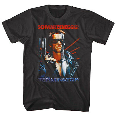 Terminator Arnold Schwarzenegger Movie Poster Men's T Shirt Black Iconic Legend