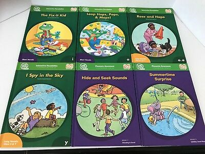 Lot 6 Leap Frog School Classroom Series Tag Reader Interactive Hardcover Books