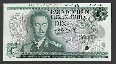 Luxembourg 10 Francs ND 1967 P53s Proof Specimen Uncirculated