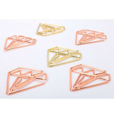 10 Pcs Creative Cute Metal Paper Clips for notebooks Paper Bookmark Clips