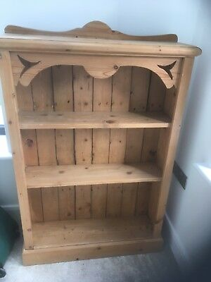 Victorian Antique pine Bookcase made from vintage reclaimed floorboards
